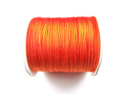 Nylon Schmuckband, 0,8 mm, neon orange