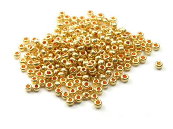 Rocailles, 2,5 mm, Glanz, gold