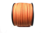 Veloursband, Wildlederoptik, 3x1,5 mm,orange