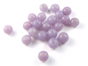 Glasperlen, rund,  6 mm, milky purple