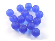 Perlen, satiniert, 8 mm, deep ocean blue