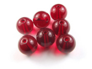 Perlen, 12 mm, deep ruby red