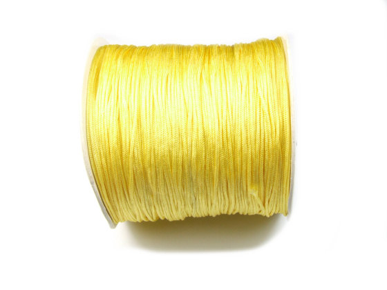 Nylon Schmuckband, 0,8 mm, soft yellow