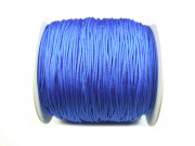 Nylon Schmuckband, 0,8 mm, royal blue