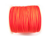 Nylon Schmuckband, 1,0 mm, neon orange