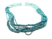 Rocailles, Mix am Strang, deep turquoise