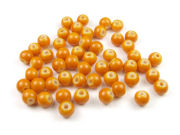 Perlen aus Glas, 6mm, opak, soft orange