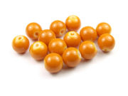 Perlen, Glasperlen, 8mm, opak-soft orange