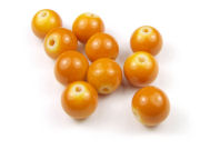 Perlen aus Glas, 10mm, opak- soft orange