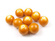 Perlen aus Glas, 12 mm, opak-soft orange