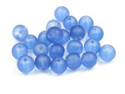 Perlen, Serie Satin C,  6 mm, matt, royalblau