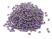 Farfalle Perlen, 4x2 mm,  rainbow AB Mix