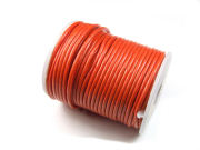 Lederband, rund, 2,0 mm, orange
